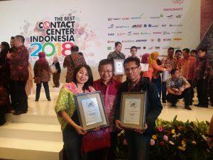 TAF Menangkan Kategori Korporat Bidang Business Contribution di Ajang The Best Contact Center Indonesia 2018