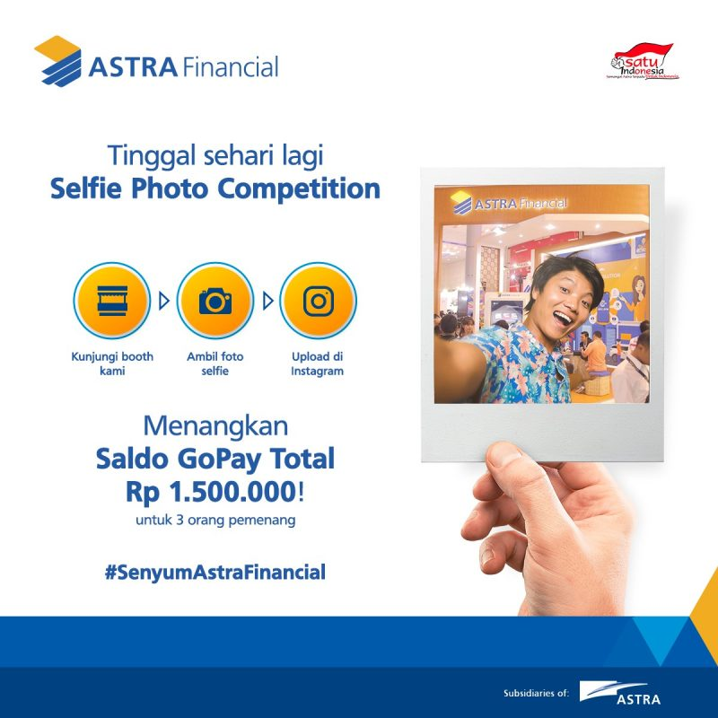 selfie competition GIIAS Astra Financial 2019