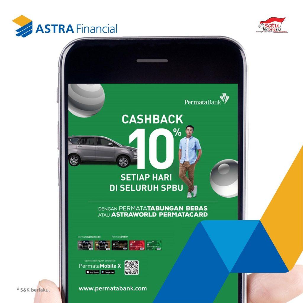 Cashback 10% PermataBank